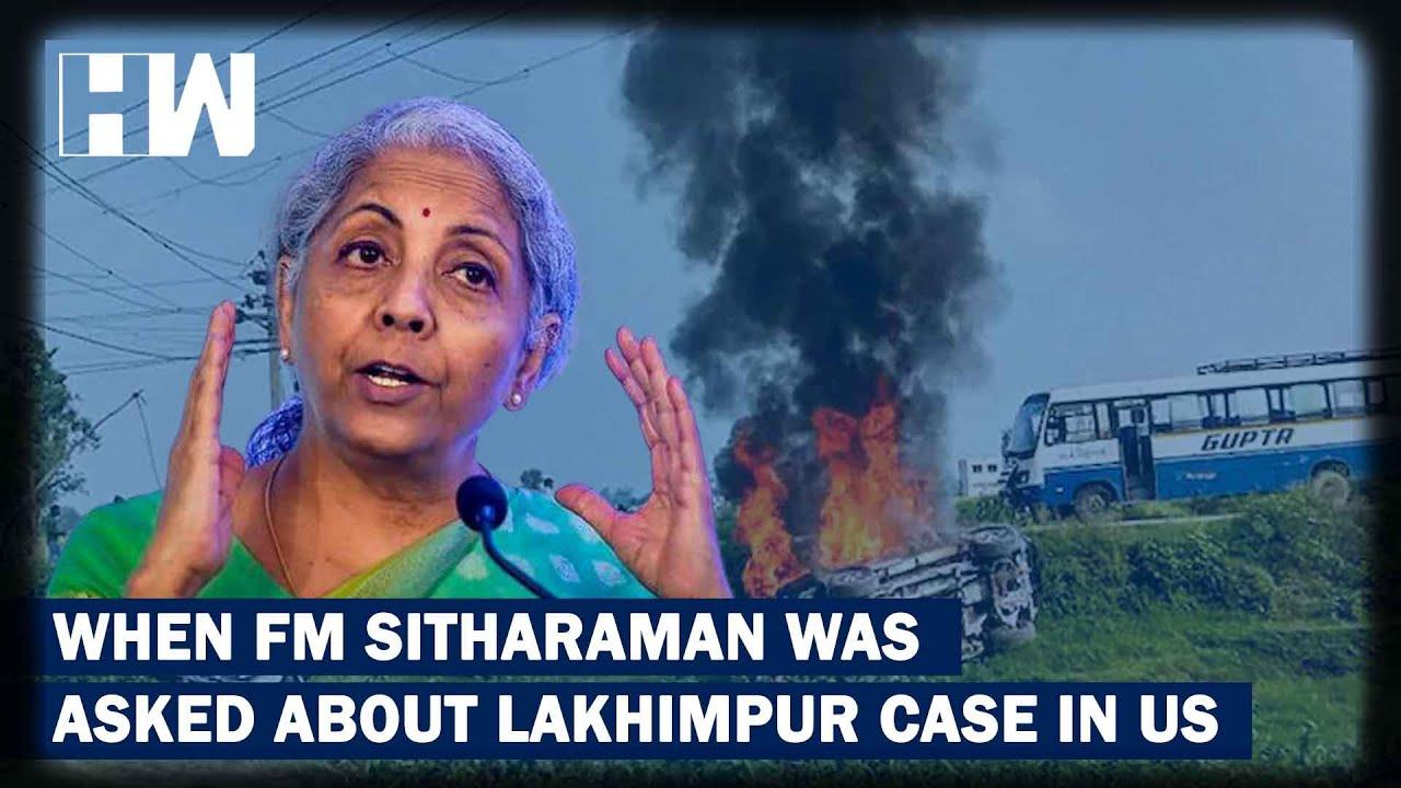 "FM Nirmala Sitharaman Condemns Lakhimpur Case But Asks People Not To Outrage ""When It Suits""|BJP thumbnail"