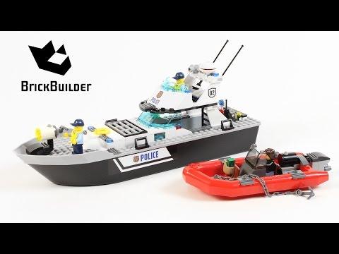 Vidéo LEGO City 60129 : Le bateau de patrouille de la police