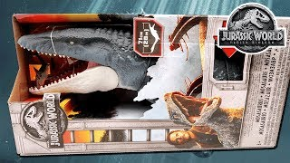 all jurassic world 2 toys for kids! mosasaurus giant size! jurassic world fallen kingdom update