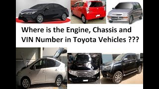 Where is the Engine, Chassis & VIN Number in Toyota Vehicles