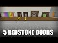 5 Redstone Doors to Build in Minecraft