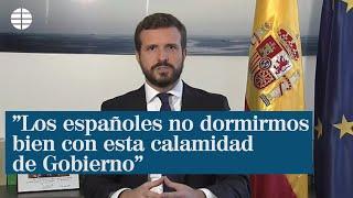 """Pablo Casado exige el """"cese inmediato"""" de Garzón y la reprobación de Iglesias por sus ataques al Rey"""