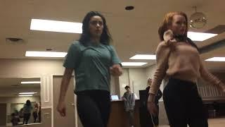 Riverdale:  BTS Rehearsal w Cheryl and Veronica and Choreographer Paul Becker
