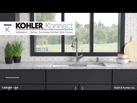 Installation - Setra Touchless Faucet with KOHLER Konnect