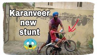 Karanveer new stunt | Bharat Mata Ki Jai