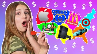 Throwing a Dart at a Map & BUYING Whatever it Lands on CHALLENGE 🎯| Piper Rockelle