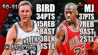Michael Jordan Vs Larry Bird Highlights (1991.03.31) - 71pts, Crazy Battle! Must Watch!