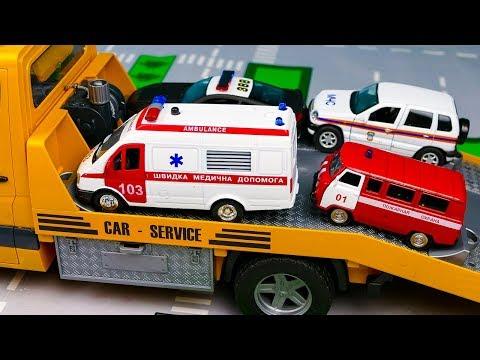 Мультфильм  про Полиция, Пожарная машина, Скорая помощь, МЧС 292 Серия Мир Машинок