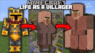 Minecraft LIFE AS A VILLAGER MOD / FIGHT THE GOLEM AND WATCH YOUR CITY GROW!! Minecraft
