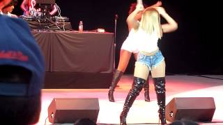 """Ashanti performing """"What's Love"""" & """"Happy"""" live in Pleasanton CA on July 2, 2014"""
