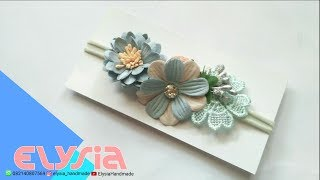 Baby Headband Ideas : Paper Flowers Baby Headband Ideas #2 | DIY By Elysia Handmade