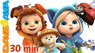 ⛺ The Bear Went Over the Mountain | Nursery Rhymes Collection from Dave and Ava ⛺