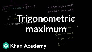 IIT JEE Trigonometric Maximum