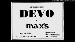 Devo - Too Much Paranoias - Live November 15th, 1977