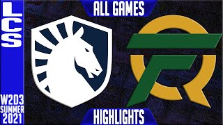 TL vs FLY Highlights ALL GAMES | LCS Lock In Quarterfinals Spring 2021 W2D3 | Team Liquid vs FlyQues