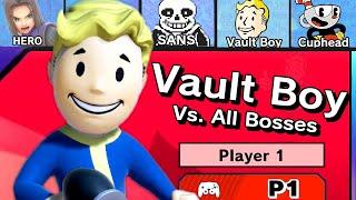 Vault Boy Vs. All Bosses in Super Smash Bros Ultimate   Vault Boy Mii