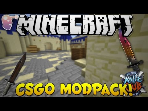 Minecraft CSGO: Counter Craft Modpack - How To Install & Mod Review!