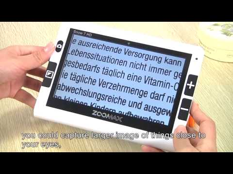 Zoomax Snow 7 HD. Videoingranditore elettronico portatile. By Olent Ottica. Italiano