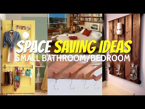 10 Space Saving ideas small bathroom and bedroom (Re-Edited)