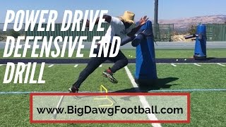 POWER DRIVE – Defensive End Drill #1 – American Football Drills