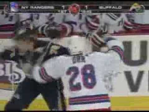 Colton Orr vs Andrew Peters