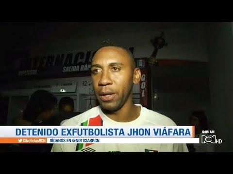 Capturan al exjugador de la Seleccion Colombia Jhon Viafara por narcotrafico