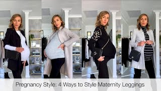How to Style Maternity Leggings | NICCY M