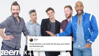 Queer Eye Cast Compete in a Compliment Battle   Teen Vogue