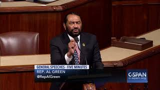 "Rep. Al Green: ""I will call for the impeachment of the President..."" (C-SPAN)"