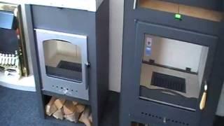 Каминная печь Haas+Sohn Grand Max  с водяным контуром ( кафельная печь , каминофен ) Серая/Антрацит від компанії House heat - відео