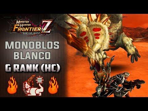 「Monster Hunter Frontier Z」 Cazando a Monoblos Blanco Rango G (Hardcore) | MHF-Z Gameplay Español