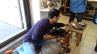 preview picture of video 'A preparation of a copper bracelet, Old Acre (Akko) Israel הכנת צמיד נחושת בעכו'
