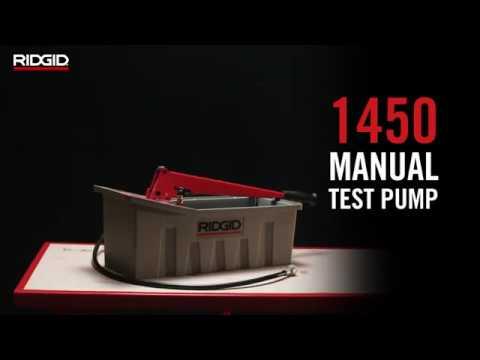1450 Pressure Test Pump Wrenches Amp Tubing Tools Ridgid