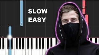 Alan Walker   Faded (SLOW EASY PIANO TUTORIAL)