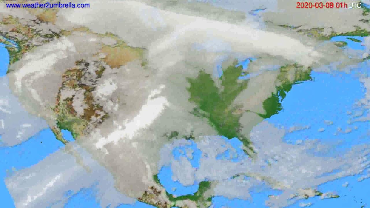 Cloud forecast USA & Canada // modelrun: 12h UTC 2020-03-07