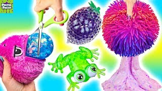 Opening Up Squishy Toys! Orb Plopzz And Bubble Drops!