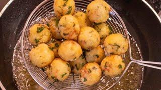 Crispy And Soft Potato Balls//Potato Bites Recipe//Kids Lunch Box Recipe//Easy Snack Recipe