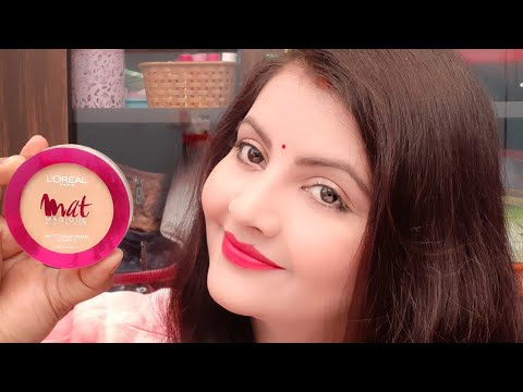 Loreal paris mat magique compact review | face powder for oily skin |
