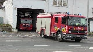 preview picture of video 'Départ Incendie avec Elévateur - SI Wavre'