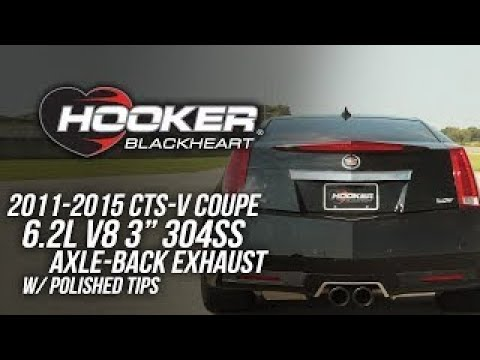 2011-2015 CTS-V Coupe 6 2L V8 - Hooker Blackheart Axle Back Exhaust System 70401346-RHKR