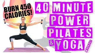 40 Minute Power Pilates and Yoga Workout by Sydney Cummings