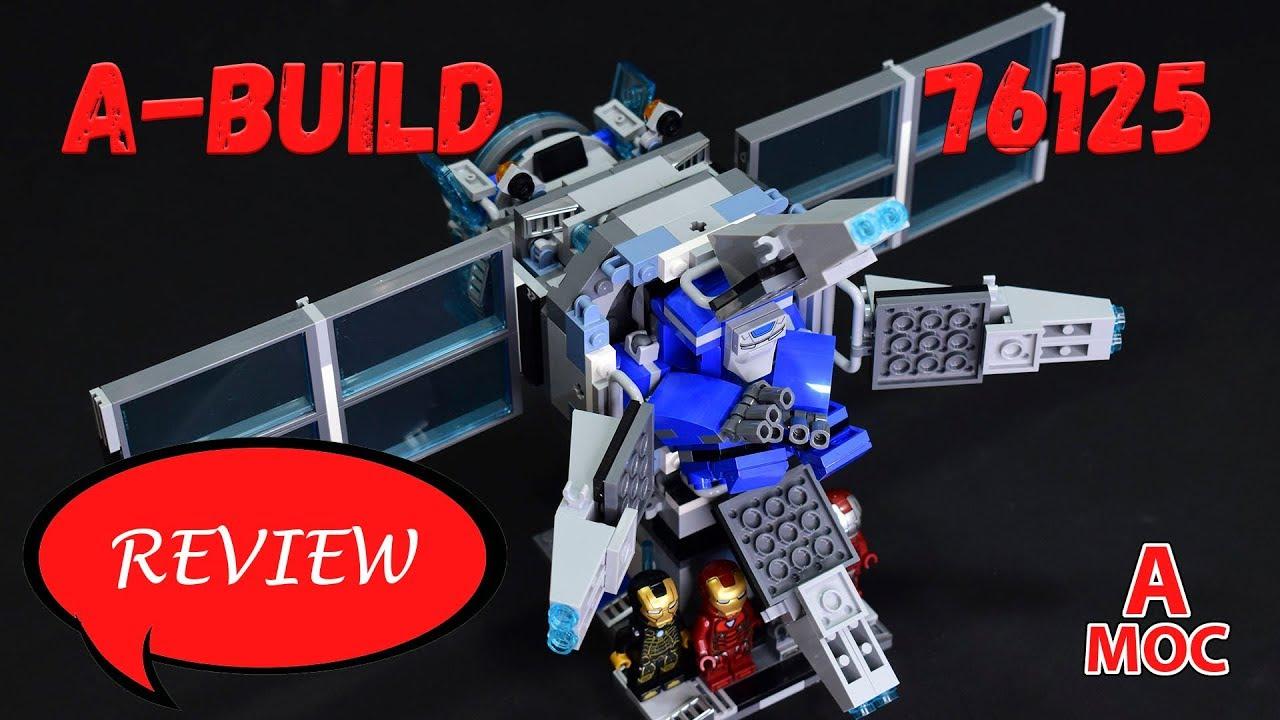 LEGO 76125 Stark Industries satellite with IGOR. Iron Man alternative build review [A MOC]