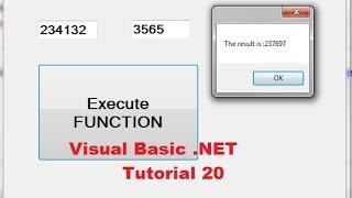 Visual Basic .NET Tutorial 20 - Understanding Function Procedures in VB.NET