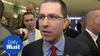 Diplomáticos abandonan el discurso de la ONU del Ministro de Relaciones Exteriores de Venezuela