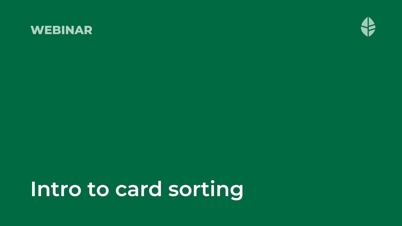 Intro to card sorting with Selma Zafar Video Thumbnail