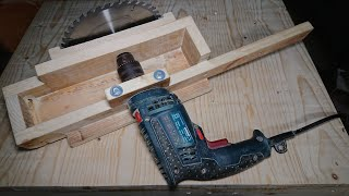 How to Make a Table Saw from an old drill