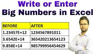 How to Enter or Write Big Numbers in Excel | हिंदी में