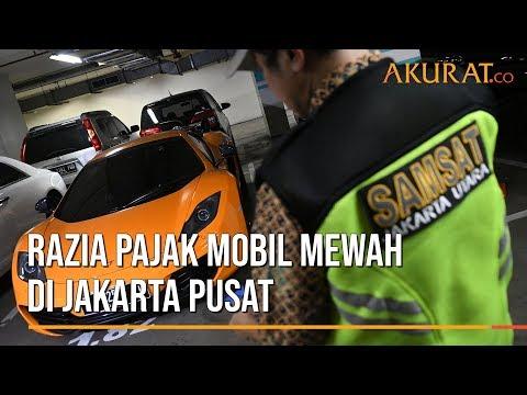 Razia Pajak Mobil Mewah di Jakarta Pusat