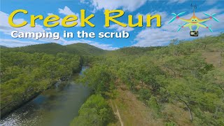 FPV Quad Fly The Creek Outback Camping Australia