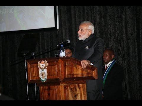 PM Modi's speech at India-South Africa Business Meet, CSIR, South Africa